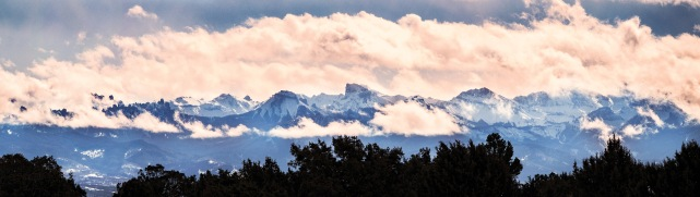After a night of heavy fog, clouds are seen hovering low over the mountains and in town on Davewood Road Tuesday morning. (Sydney Warner/Montrose Daily Press)